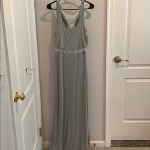 Maxi dress with see through middle